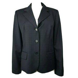 ANN TAYLOR LOFT Black Blue Blazer Jacket Size 16